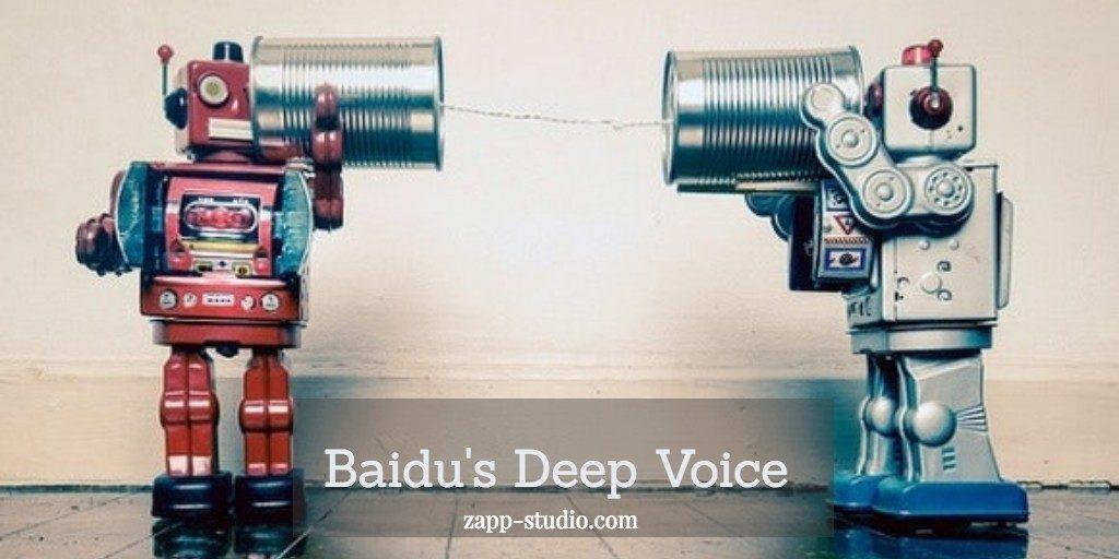 Baidu's Deep Voice