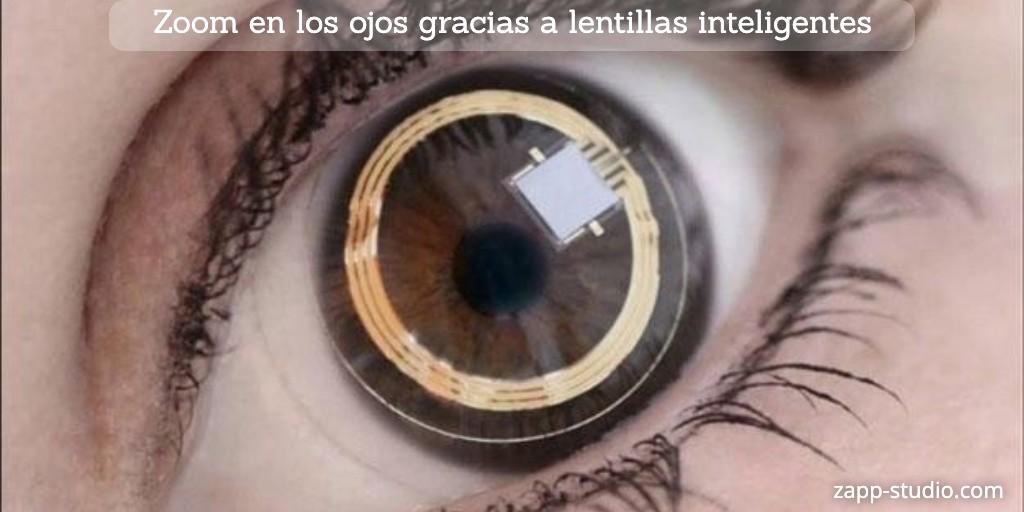 Zoom en los ojos gracias a lentillas inteligentes