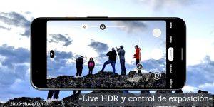 -Live HDR y control de exposición-