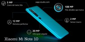 Cámaras Xiaomi Mi Note 10
