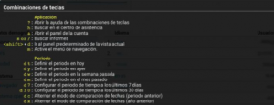 Analytic Atajos teclado