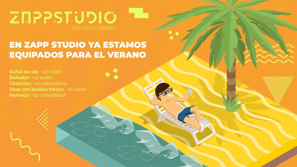 El equipo de Zapp Studio os desea ¡feliz verano y felices vacaciones! ⛱